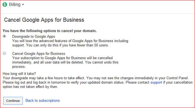 downgrade-google-apps